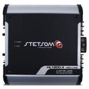 Modulo Amplificador Stetsom 1200 Rms HL-1200.4 High Line Stereo Digital 4 Canais 1 Ohm 2 Ohms Classe D