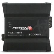 Modulo Amplificador Stetsom 3000 Rms Vulcan 3000 Mono Digital 1 Canal 1 Ohm 2 Ohms Classe D Bass Boost