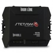 Modulo Amplificador Stetsom 400 Rms IR-400.1 Iron Line Mono Digital 1 Canal 2 Ohms Classe D Fio Rca Crossover