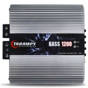 Modulo Amplificador Taramps 1200 Rms BASS-1200 Mono Digital 1 Canal 1 Ohm 2 Ohms Classe D Bass Boost Crossover
