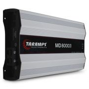 Modulo Amplificador Taramps 8000 Rms MD-8000.1 Mono Digital 1 Canal 1 Ohm 2 Ohms Classe D Bass Boost Crossover