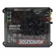 Módulo Soundigital 250 Rms SD-250.2D Stereo Digital