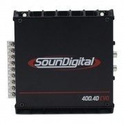 Módulo Soundigital 400 Rms SD-400.4D Evo 2 Stereo Digital