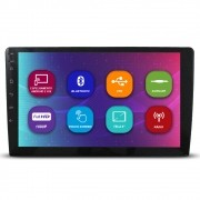 Mp10 Player Automotivo 2 Din 9 Polegadas Voolt C8001 Bluetooth Espelhamento Android IOS Usb Fm Full Hd Comando Volante