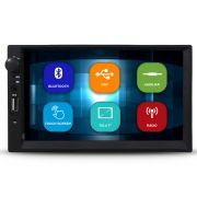 Mp5 Player Automotivo 2 Din Tela 7 Pol Bluetooth Usb Fm