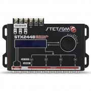 Processador Audio Automotivo Stetsom STX-2448 4 Canais Digital Crossover Equalizador Gain Delay Phase Limiter