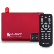 Receptor Tv Digital Automotivo E-Tech Universal Antena Conversor Sinal Dvd Multimídia