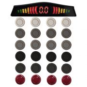 Sensor Estacionamento Ré 4 Pontos Ray X Universal Traseiro Display Led Kit