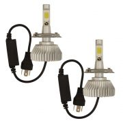 Kit Lampada Super Led 2D H4 6000k 5600 Lúmens 12v 24v 60w Golden Cabo Farol Alto Baixo IP68 GC