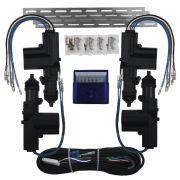 Trava Elétrica Universal 4 Portas Duplo Comando kit Gc