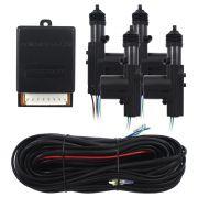 Trava Eletrica Universal 4 Portas Positron TR-410 Duplo Comando Dupla Serventia 4p Kit