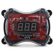 Voltímetro Stetsom Digital Automotivo VT4 Mede Tensão 30v a 500v Acionamento Remoto Compacto