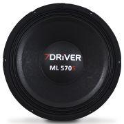 Woofer 12 Polegadas 7 Driver 570 Rms 12-ML570S 1140w Pico