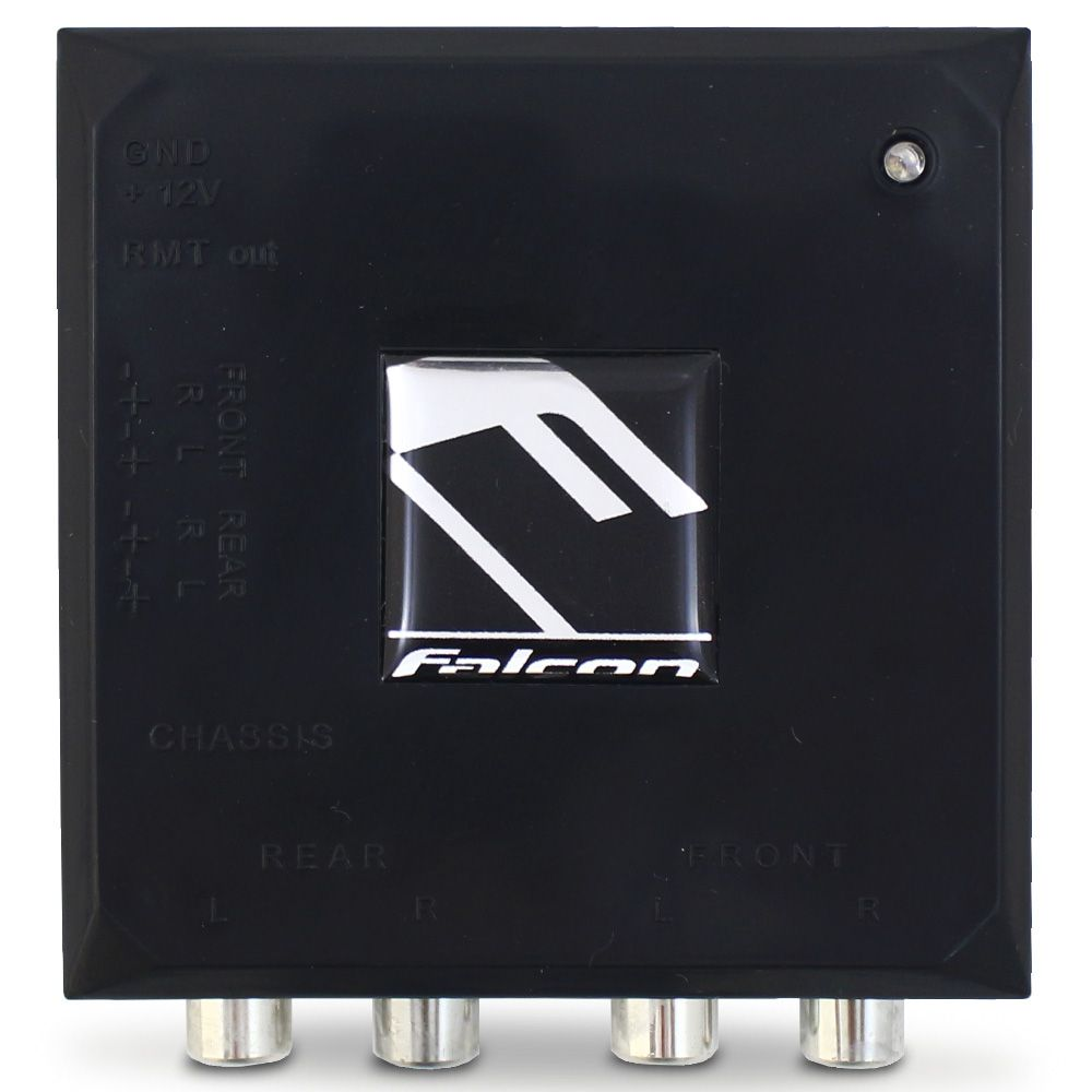 Adaptador Conversor Fio Para Rca Falcon FC4X 4 Canais 12v Filtro Anti Ruído Saída Remoto