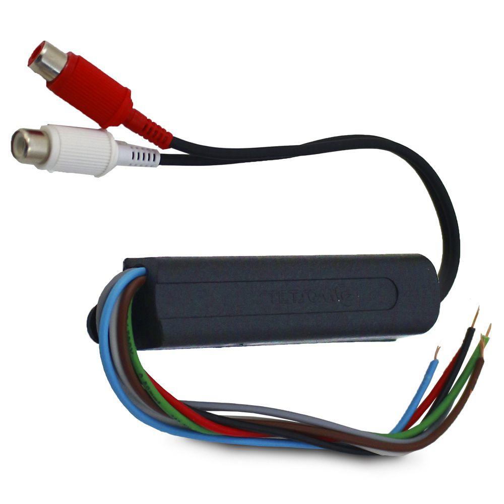 Adaptador Conversor Fio Para Rca Stetsom ST-6000 12v Saída Remoto