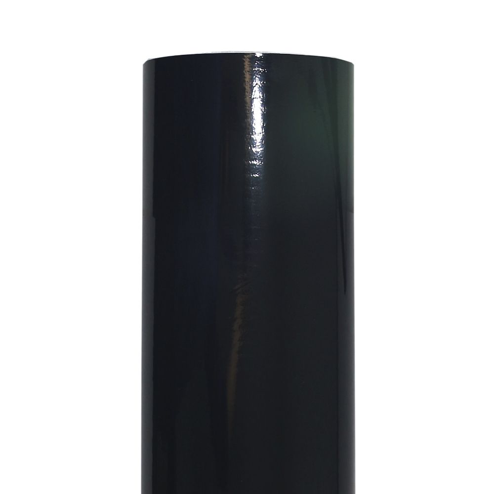 Adesivo Envelopamento Automotivo Bobina 1,36 x 15 Metros Black Piano Solarium Rolo Película Plotagem