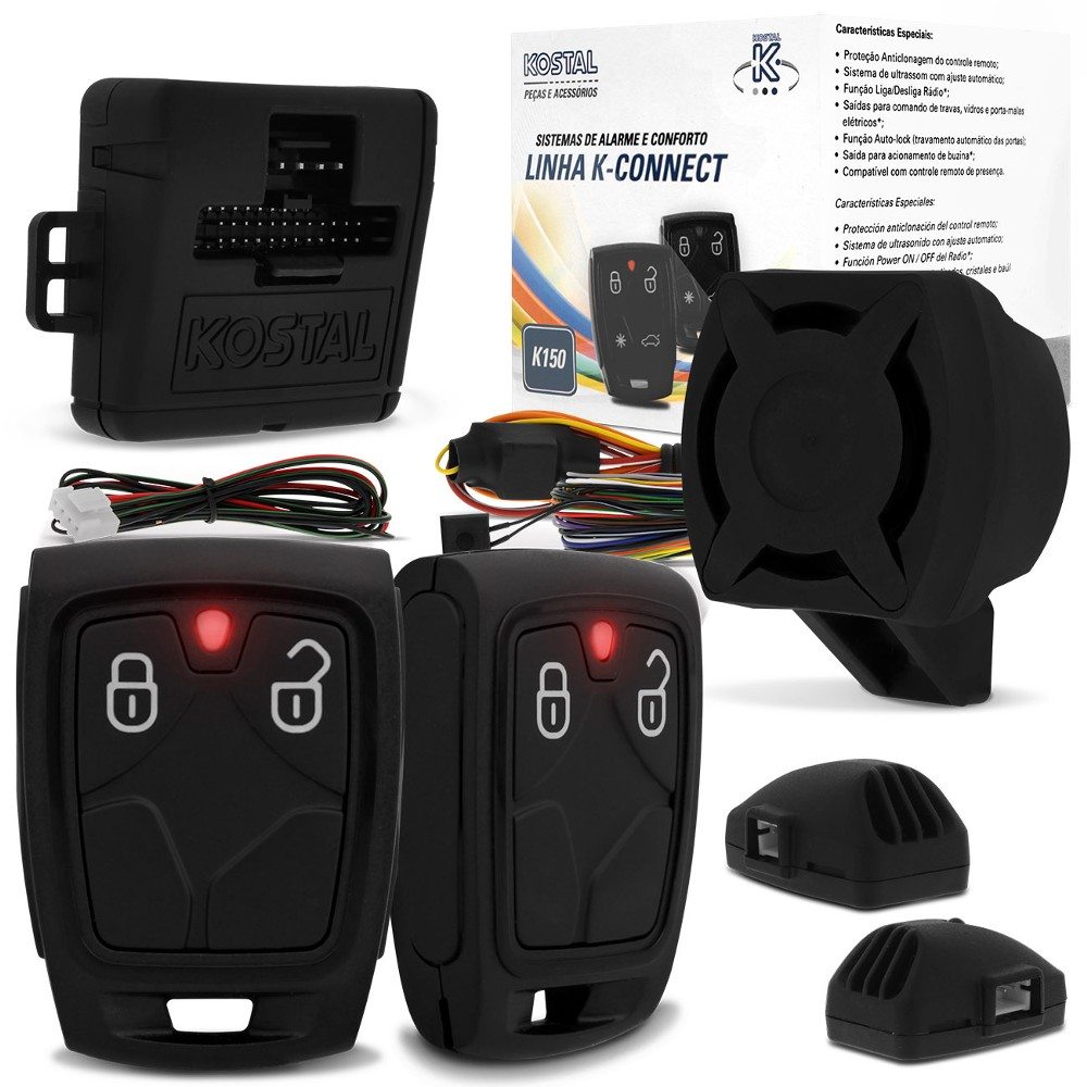Alarme Automotivo Kostal K150 k-Connect Bloqueio Opcional