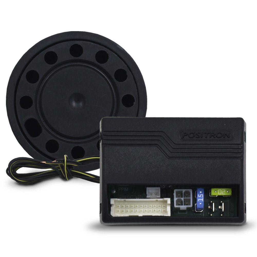 Alarme Automotivo Caminhão Positron Cyber TX-360 12v 24v Controle Presença Bloqueador Sirene Sensor Ultrassom