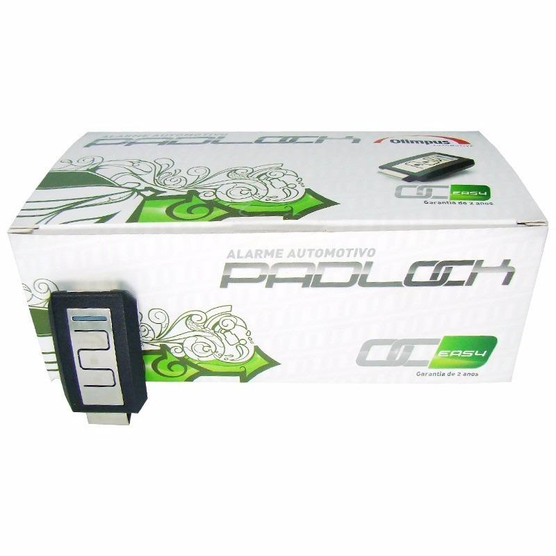 Alarme Automotivo Olimpus Br212 Padlock Easy controle cormado
