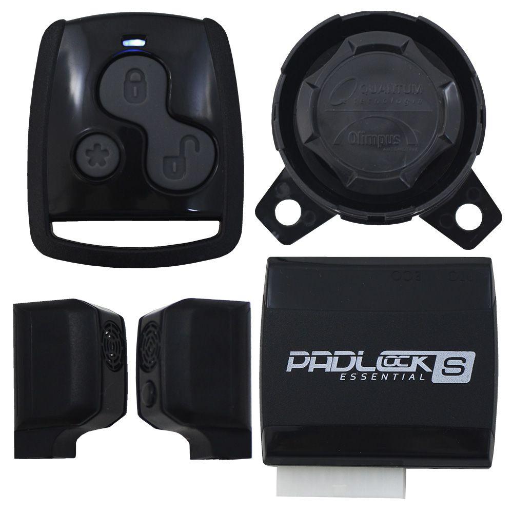 Alarme Automotivo Olimpus One S Universal Controle Remoto Sirene Dedicada Sensor Ultrassom Bloqueador Veicular