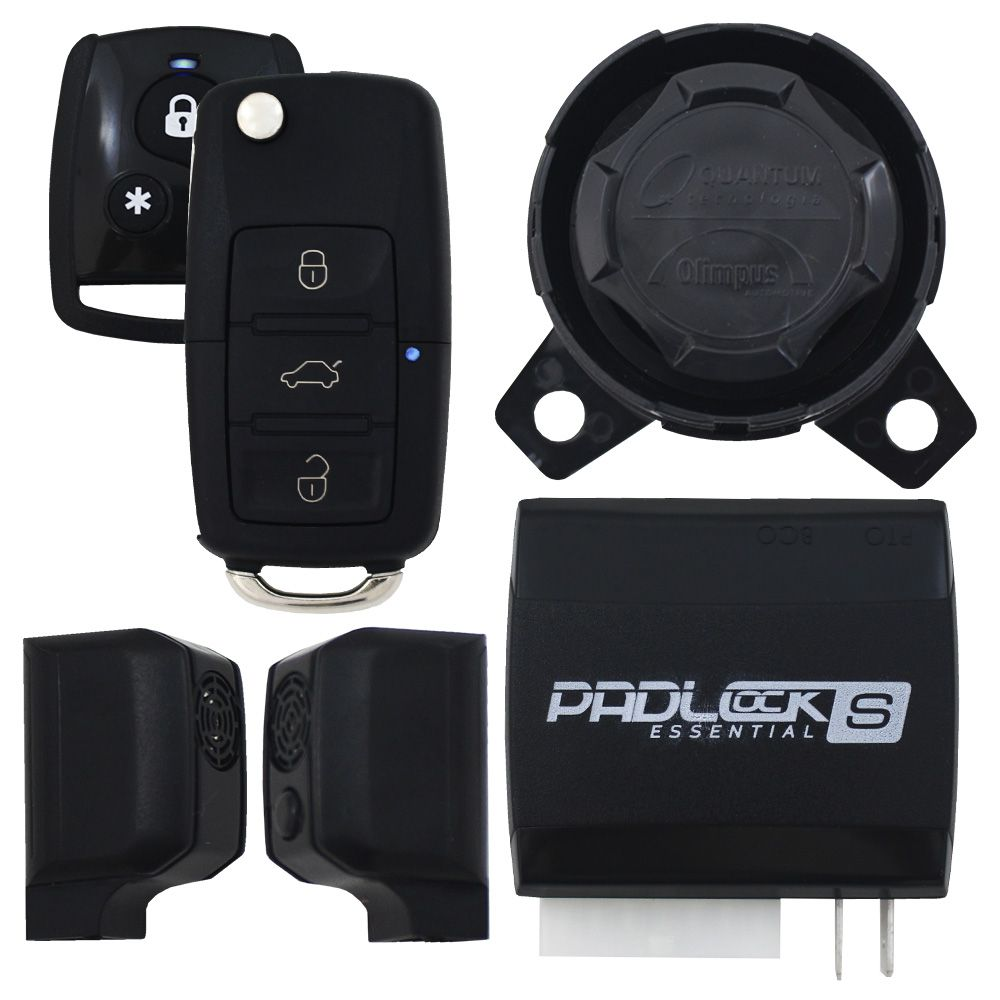 Alarme Automotivo Olimpus Premium S Universal Controle Presença Chave Canivete Sirene Dedicada Sensor Ultrassom