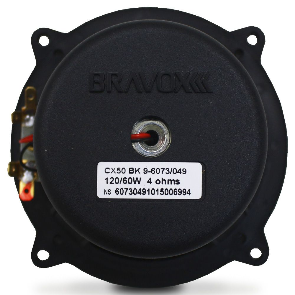 Alto Falante 5 Polegadas Bravox 120w Rms CX50-BK Coaxial 4 Ohms Bobina Simples 240w Pico Par