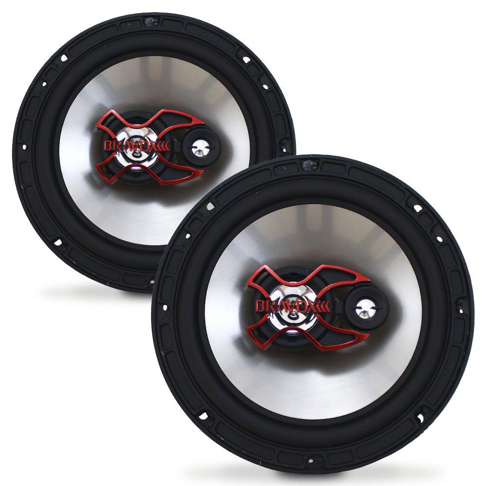Alto Falante 6 Polegadas Bravox 100w Rms B3X60-X Triaxial 4 Ohms Bobina Simples 200w Pico Par