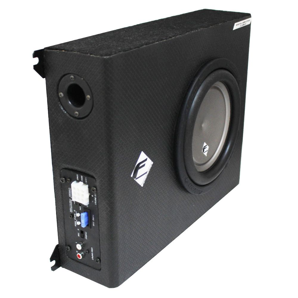 Caixa Amplificada Automotiva XS-200SL Subwoofer 8 Pol 200w Rms Falcon Modulo Mono 1 Canal Bass Boost