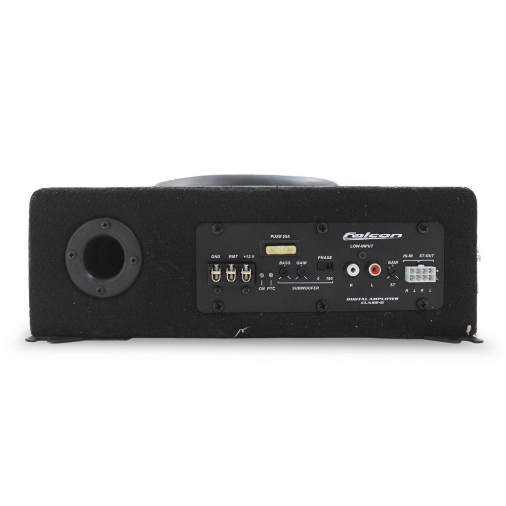 Caixa Amplificada Automotiva XS-400.3 Subwoofer 10 Pol 200w Rms Falcon Modulo Mono Stereo 3 Canais Bass Boost