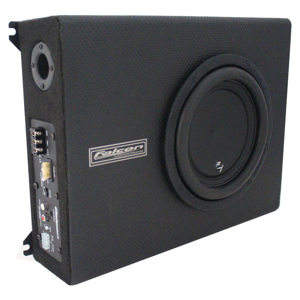 Caixa Amplificada Falcon Sub 8 pol 200 Rms Módulo 3 canais