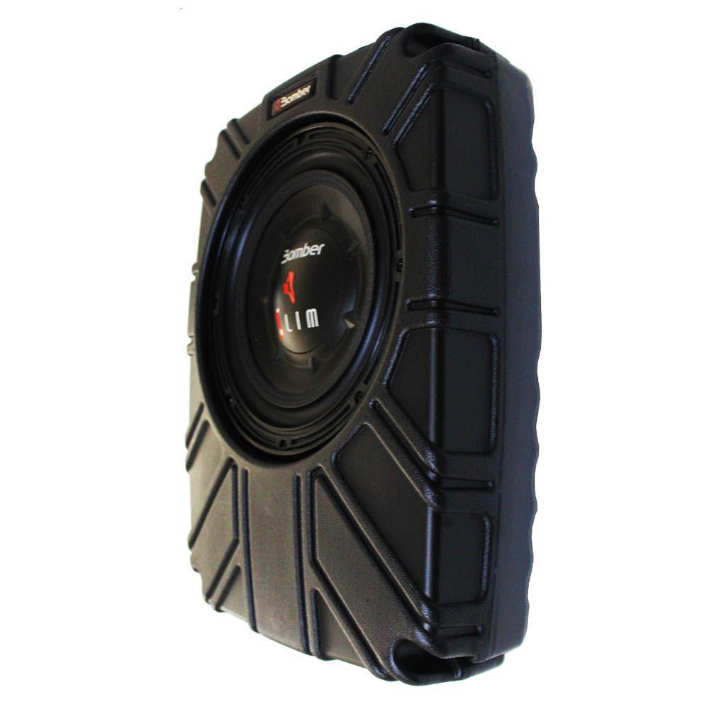 Caixa Selada Bomber Slim Subwoofer 8 Polegadas 200 Rms