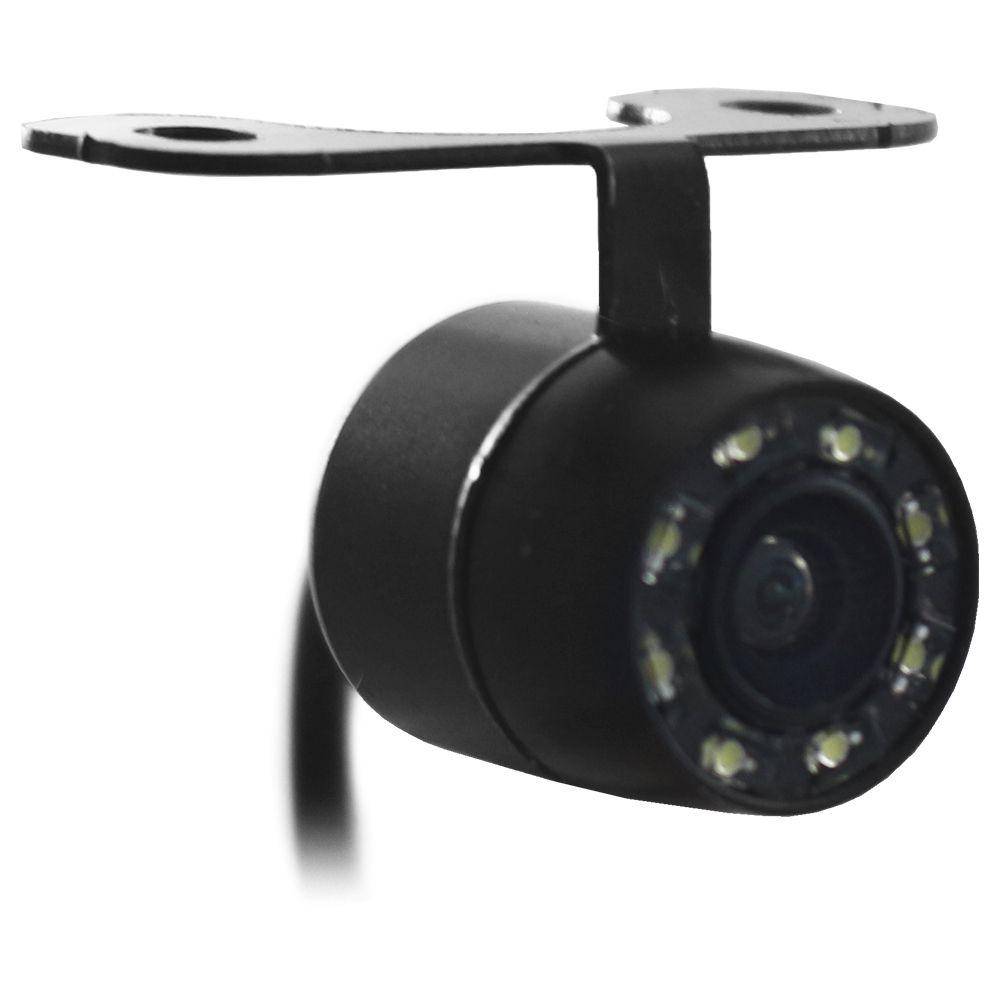 Camera de Ré Estacionamento Automotiva Visão Noturna E-Tech Encaixe Borboleta Colorida Resistente Água Linha Guia