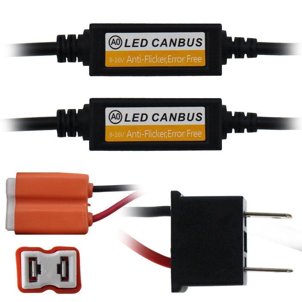 Canceller Super Led H1 H11 H27 H3 H4 H7 HB3 HB4 Anti Flicker E-Tech Kit Lampada Can Bus Computador Bordo