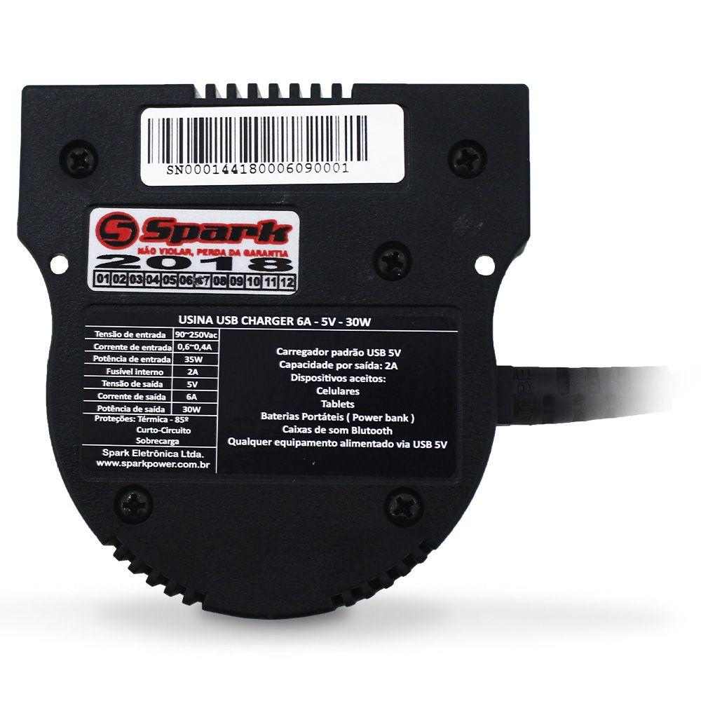 Carregador Bateria Celular Usina 6-a Amperes Usb Bivolt