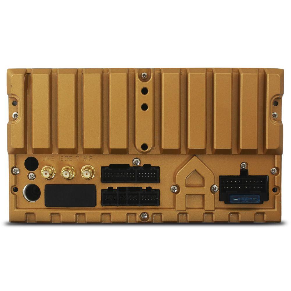 Central Multimídia Automotivo 2 Din Android 6.2 Pol Tay Tech S95 Premium Universal GPS TV Digital Dvd Espelhamento Wifi
