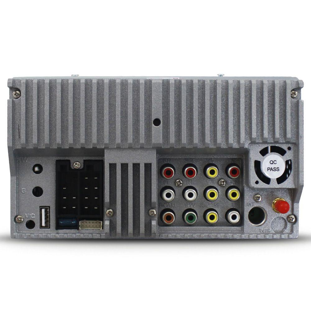 Central Multimidia Automotivo 2 Din Tela 7 Polegadas E-tech Universal Tv Digital Dvd Espelhamento Android Ios Usb Sd Aux