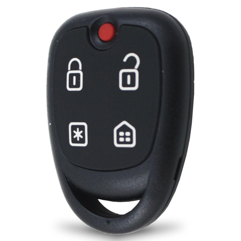 Controle Remoto Alarme Positron PXN58 4 Botões Led Vermelho EX FX PX TX DuoBlock G6 G7 G8