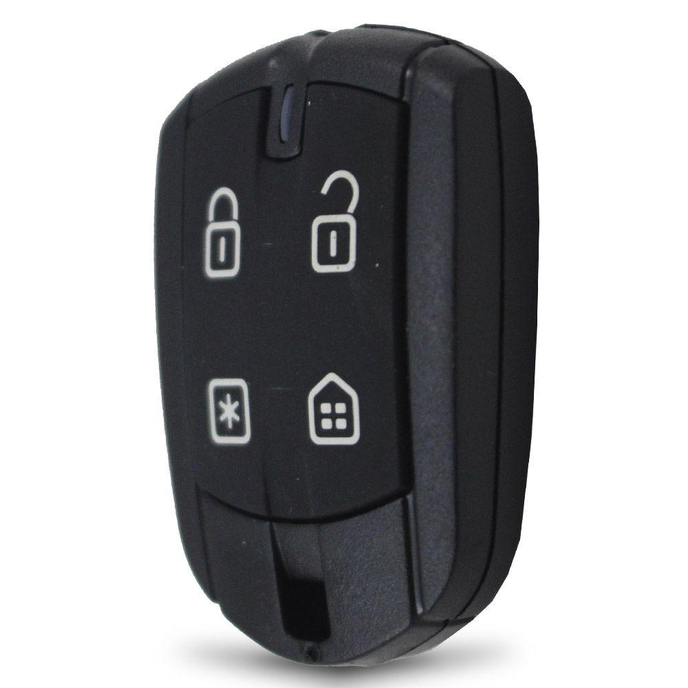 Controle Remoto Alarme Positron PXN62 4 Botões Led Vermelho EX FX PX TX DuoBlock G6 G7 G8