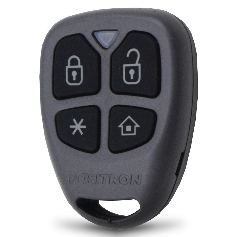 Controle Remoto Presença Alarme Positron DP47 4 Botões Led Vermelho EXACT FX PX TX DuoBlock