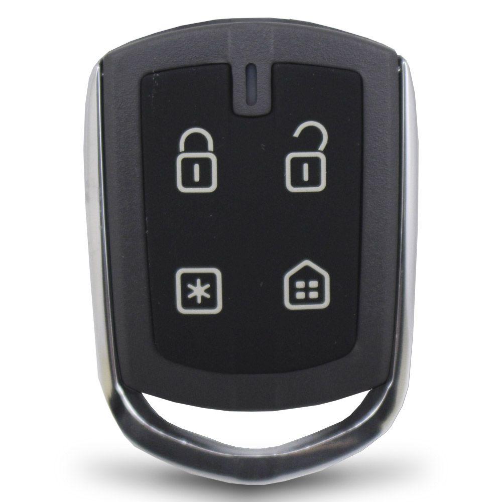Controle Remoto Presença Alarme Positron DPN64 4 Botões Led Vermelho EX FX PX TX DuoBlock G6 G7 G8