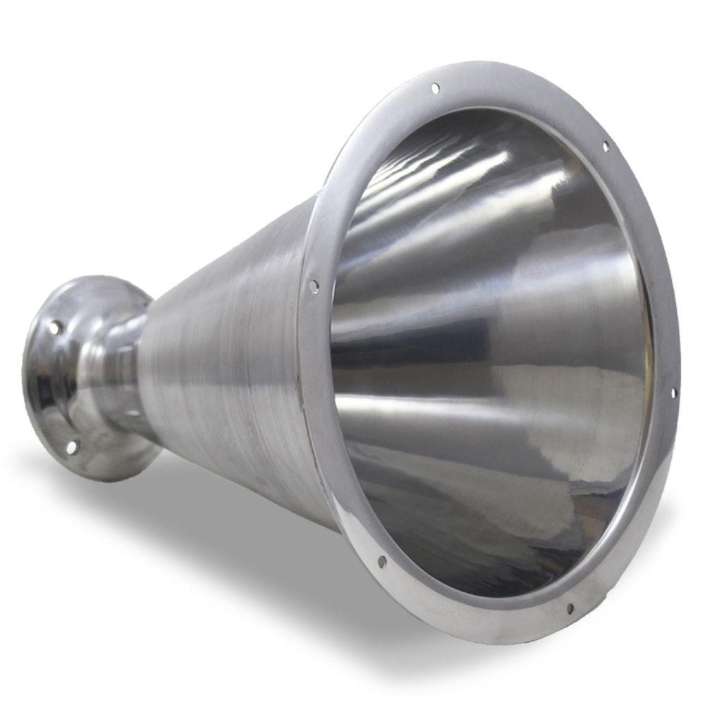 Corneta Cone Alumínio Caldeirão Longo Parafuso Polido