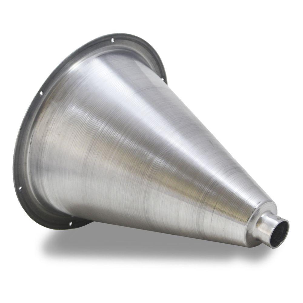 Corneta Cone Alumínio Caldeirão Longo Rosca Polido