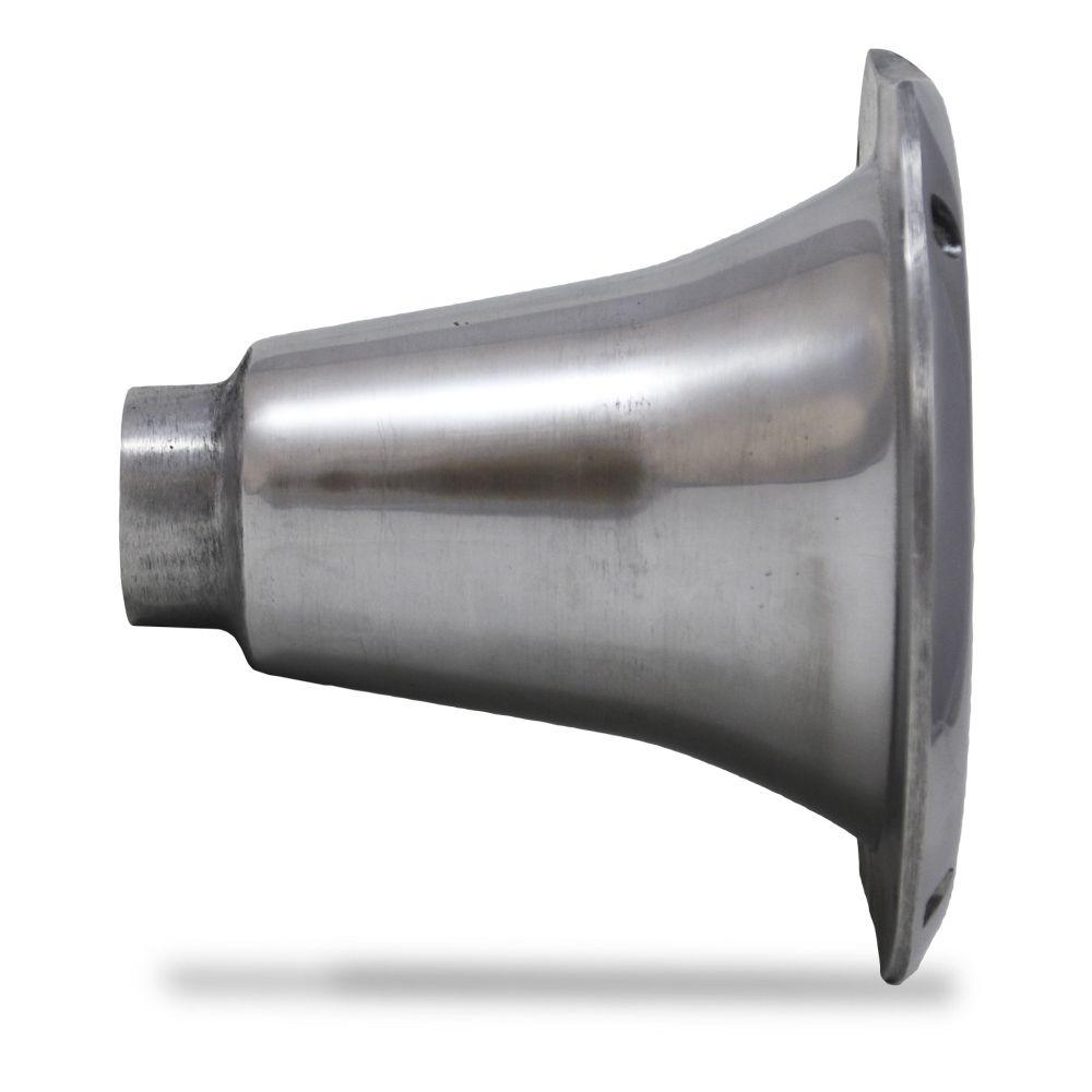 Corneta Cone Alumínio HL-1450 Curta Rosca Cromada Som Automotivo