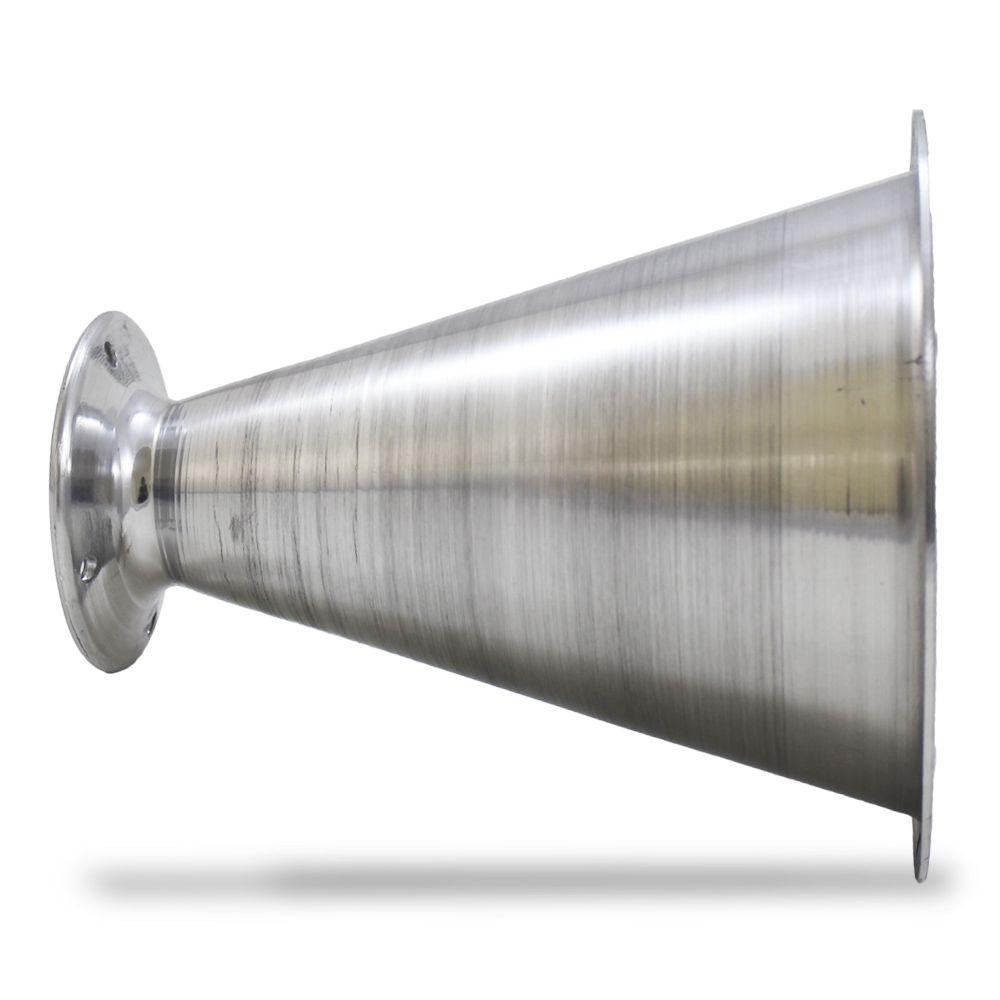 Corneta Cone Alumínio Jarrão Longo Parafuso Polido