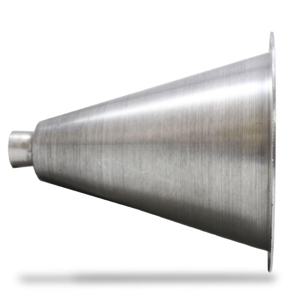 Corneta Cone Alumínio Jarrão Longo Rosca Polido