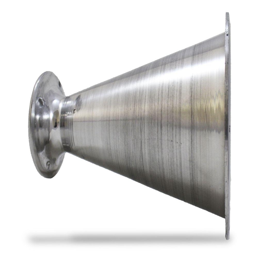 Corneta Cone Alumínio Jarrão Médio Parafuso Polido