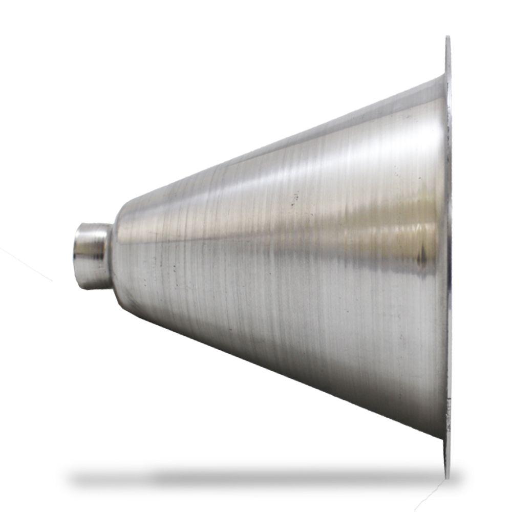 Corneta Cone Alumínio Jarrão Médio Rosca Polido