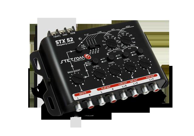 Crossover Automotivo Stetsom 3 Vias STX-52 Digital 12v Mesa Som Bass Boost Level Frequency Locked Subsonic Filter