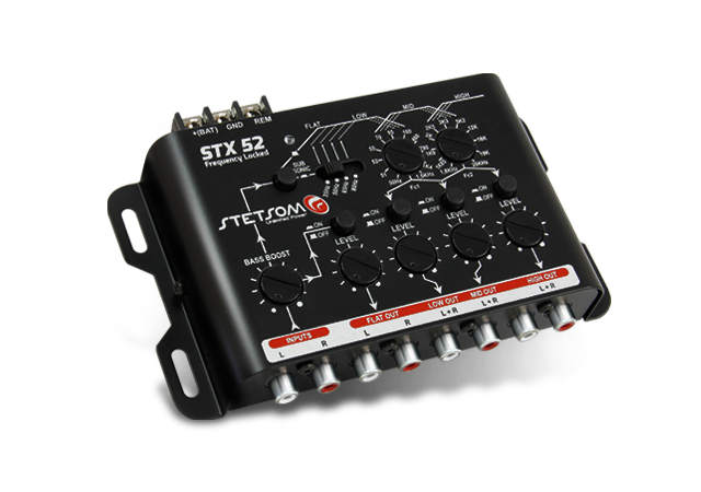 Crossover Automotivo Stetsom 3 Vias STX-52 Digital 12v Mesa Som Bass Boost Level Frequency Locked Subsonic Filter