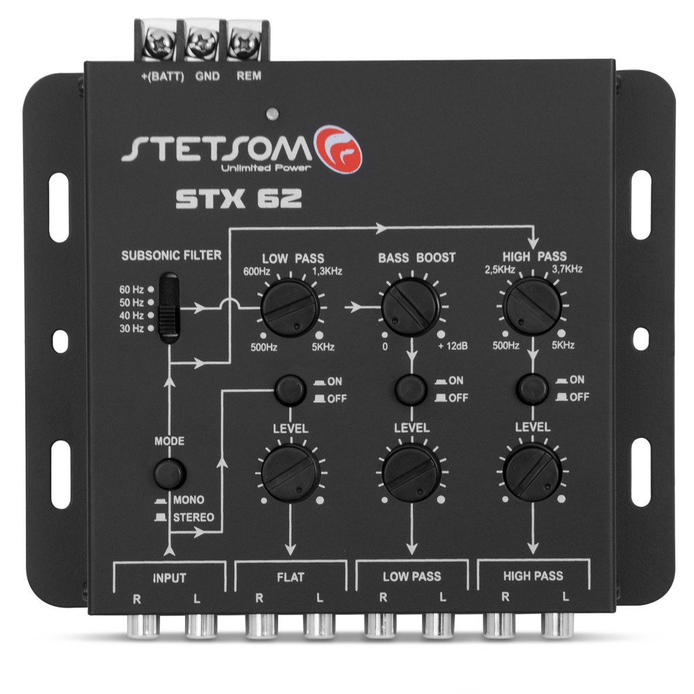 Crossover Automotivo Stetsom 3 Vias STX-62 Digital Mesa